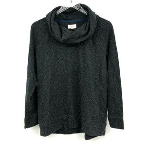 Lou & Grey Sweater M Speckled Cowl Neck Long Sleev